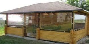 Прозрачные шторы ПВХ для загородных домов, коттеджей