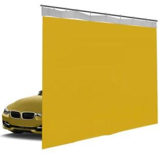 Шторы ПВХ для автомойки сплошные, цвет желтый 1м³
